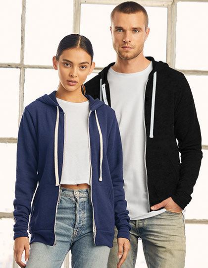 Unisex Triblend Full Zip Hoodie | bella+canvas