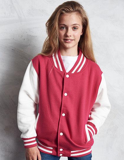 Kids Varsity Jacket | Just Hoods