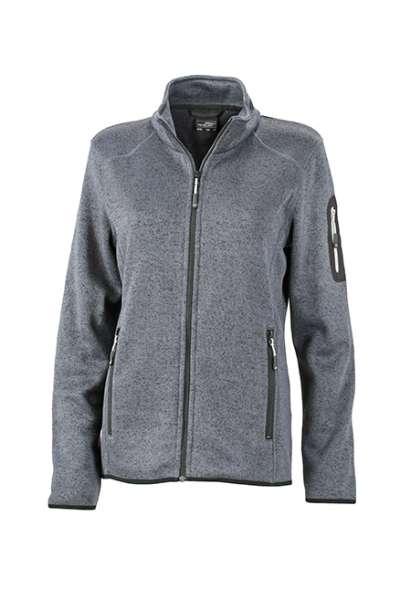 Ladies` Knitted Fleece Jacket | James & Nicholson