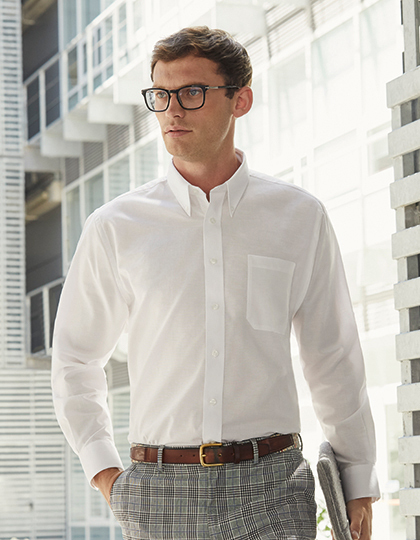 Men´s Long Sleeve Oxford Shirt | Fruit of the Loom