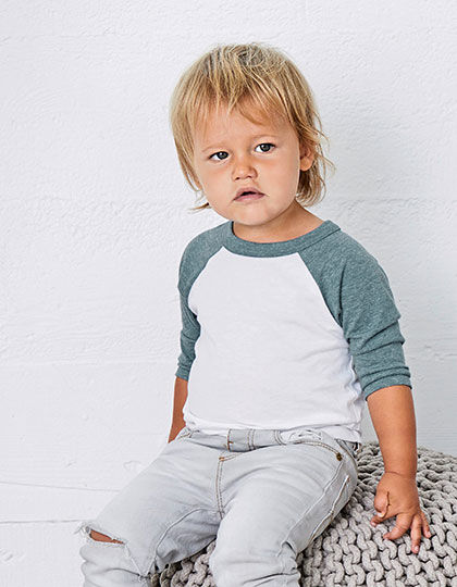 Toddler 3/4 Sleeve Baseball Tee | bella+canvas