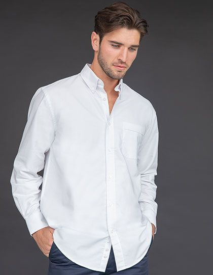 Men`s Classic Long Sleeved Oxford Shirt | Henbury