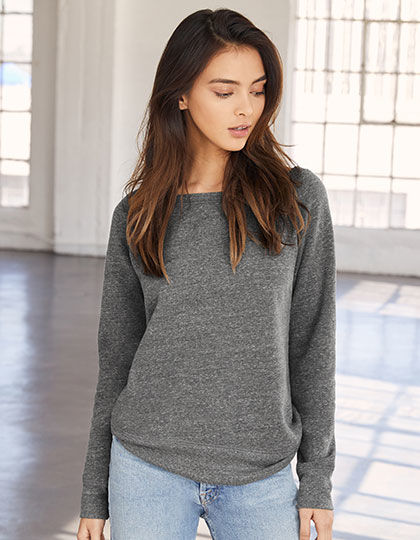 Women's Sponge Fleece Wide Neck Sweatshirt | bella+canvas