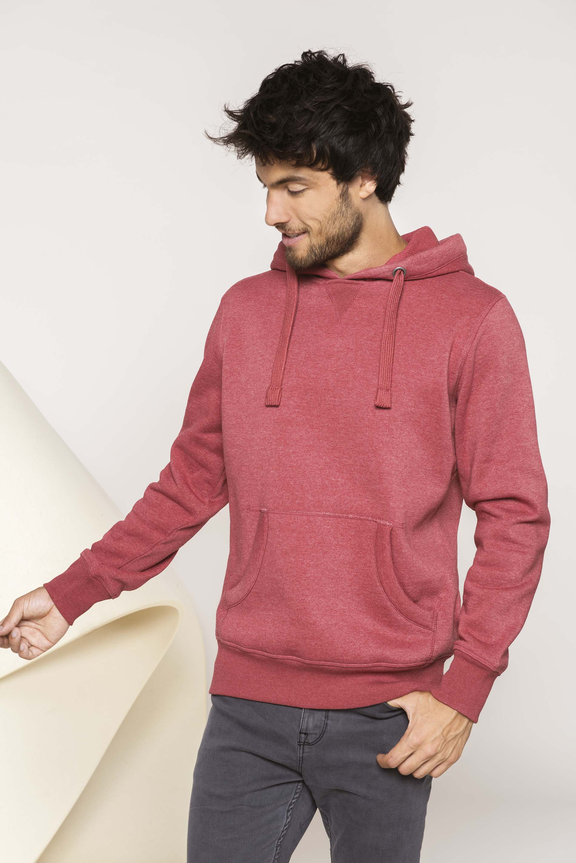 kariban kapuzen sweatshirt mischgewebe g nstig online kaufen. Black Bedroom Furniture Sets. Home Design Ideas