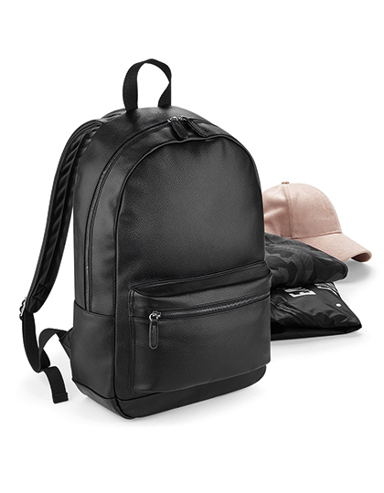 Faux Leather Fashion Backpack | BagBase