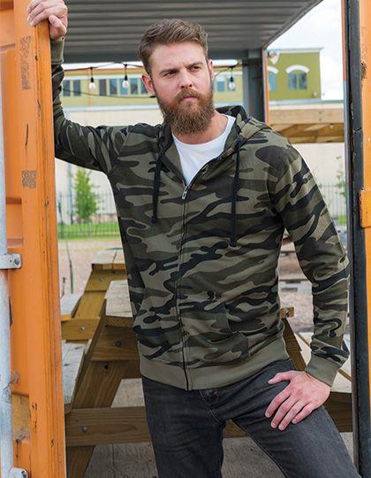 Full Zip Camo Hooded Fleece Jacket | Burnside