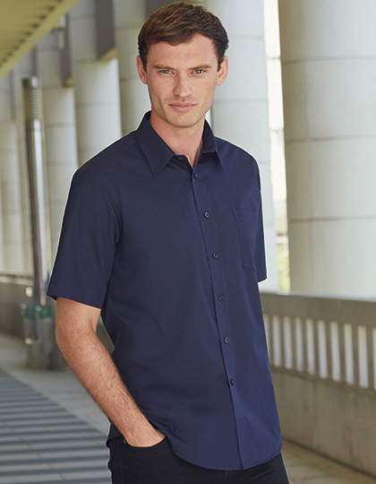 Men´s Short Sleeve Poplin Shirt | Fruit of the Loom