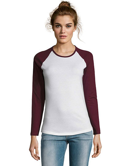 Women`s Milky Long Sleeve T-Shirt   SOL´S