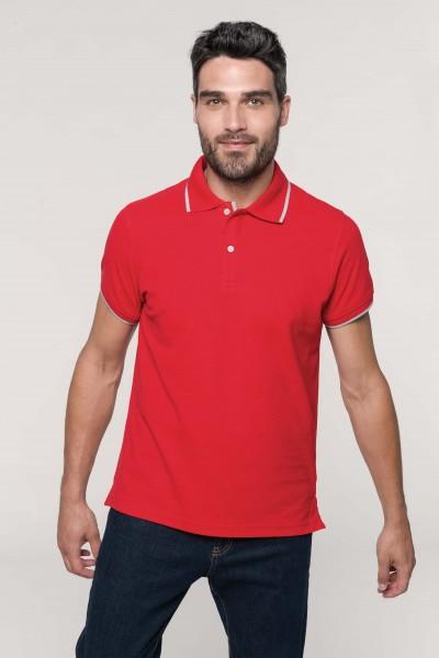 Herren Mischgewebe Kontrast Poloshirt Kurzarm | Kariban