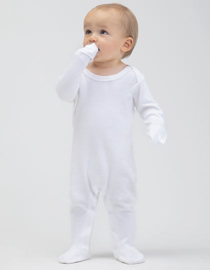 Baby Organic Sleepsuit with Scratch Mitts | Babybugz