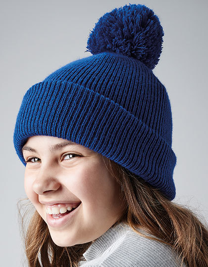 Junior Reflective Bobble Beanie | Beechfield