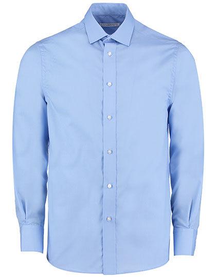 Business Tailored Fit Poplin Shirt   Kustom Kit