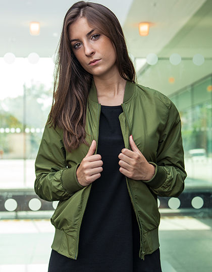 Ladies Nylon Bomber Jacket | Build Your Brand