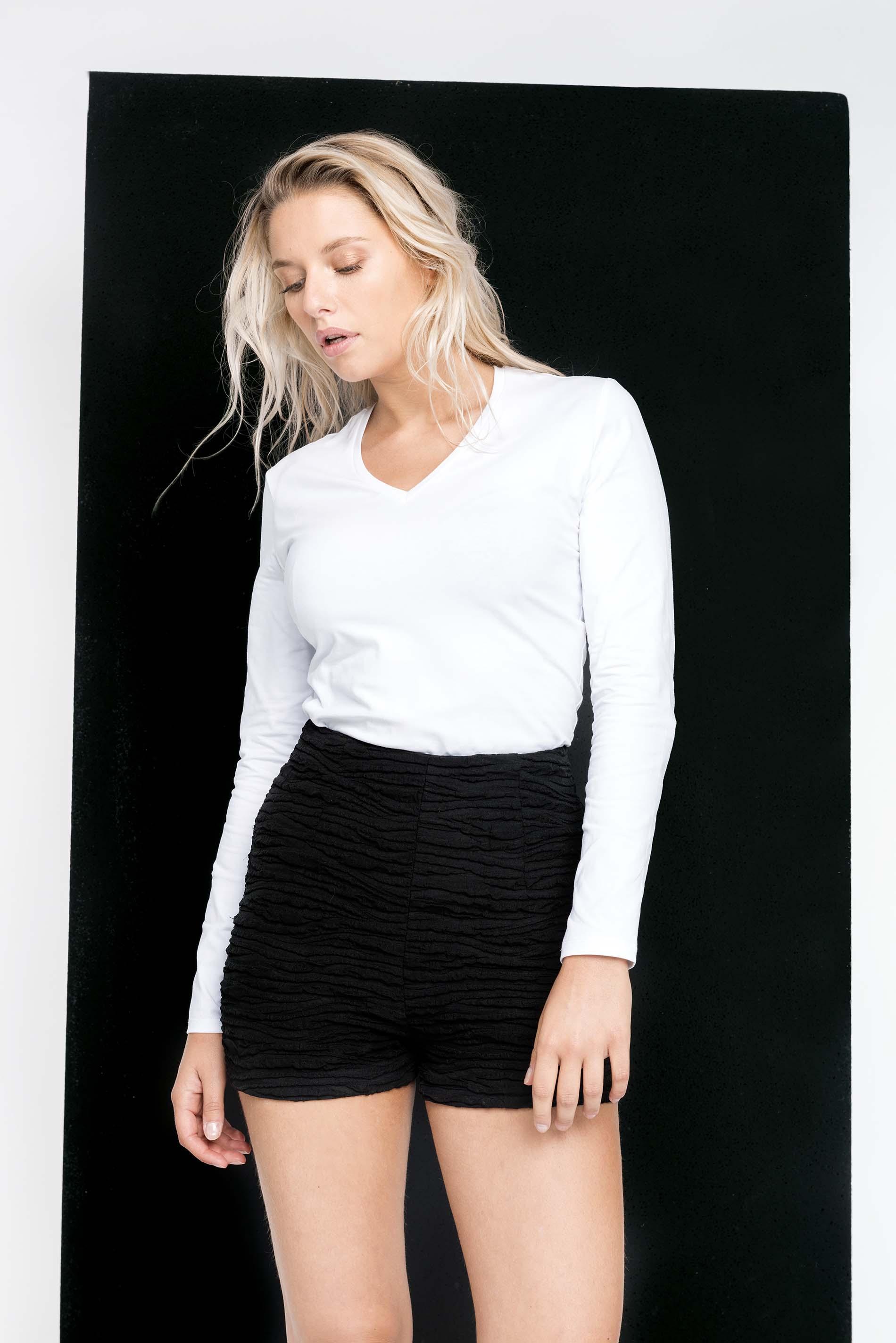 kariban damen langarmshirt v ausschnitt g nstig online kaufen. Black Bedroom Furniture Sets. Home Design Ideas