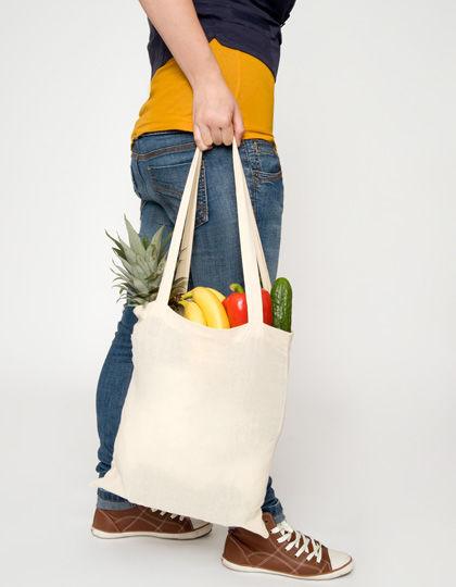 Baumwolltasche, natur, lange Henkel, Basic   Printwear