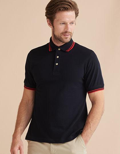 Tipped Piqué Polo Shirt   Henbury