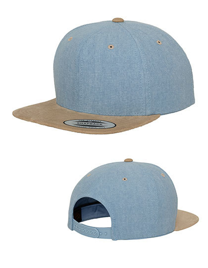 Chambray-Suede Snapback | FLEXFIT