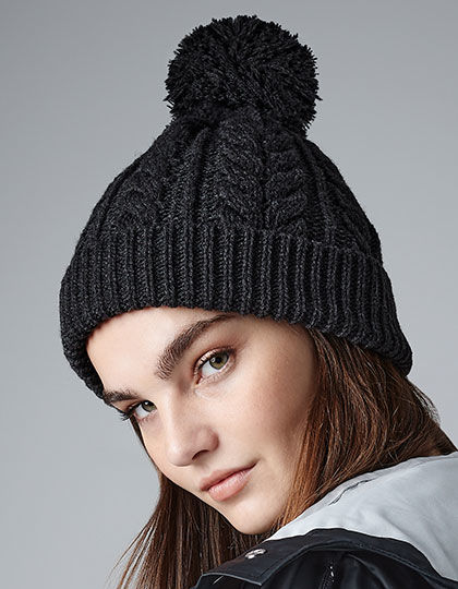 Cable Knit Snowstar Beanie | Beechfield