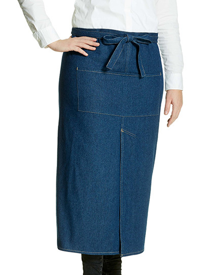 Jeans Bistro Apron with Split | Link Kitchen Wear