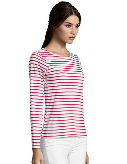92e64479bbaa0d SOL´S Women´s Long Sleeve Striped T-Shirt Marine günstig online kaufen
