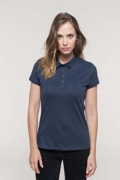 Jersey Kurzarm Polohemd für Damen   Kariban