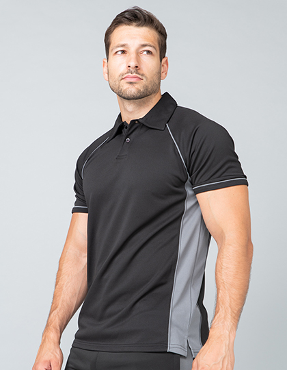 Mens Piped Performance Polo | Finden+Hales