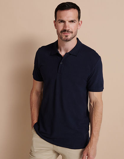 Modern Fit Cotton Microfine-Piqué Polo Shirt | Henbury