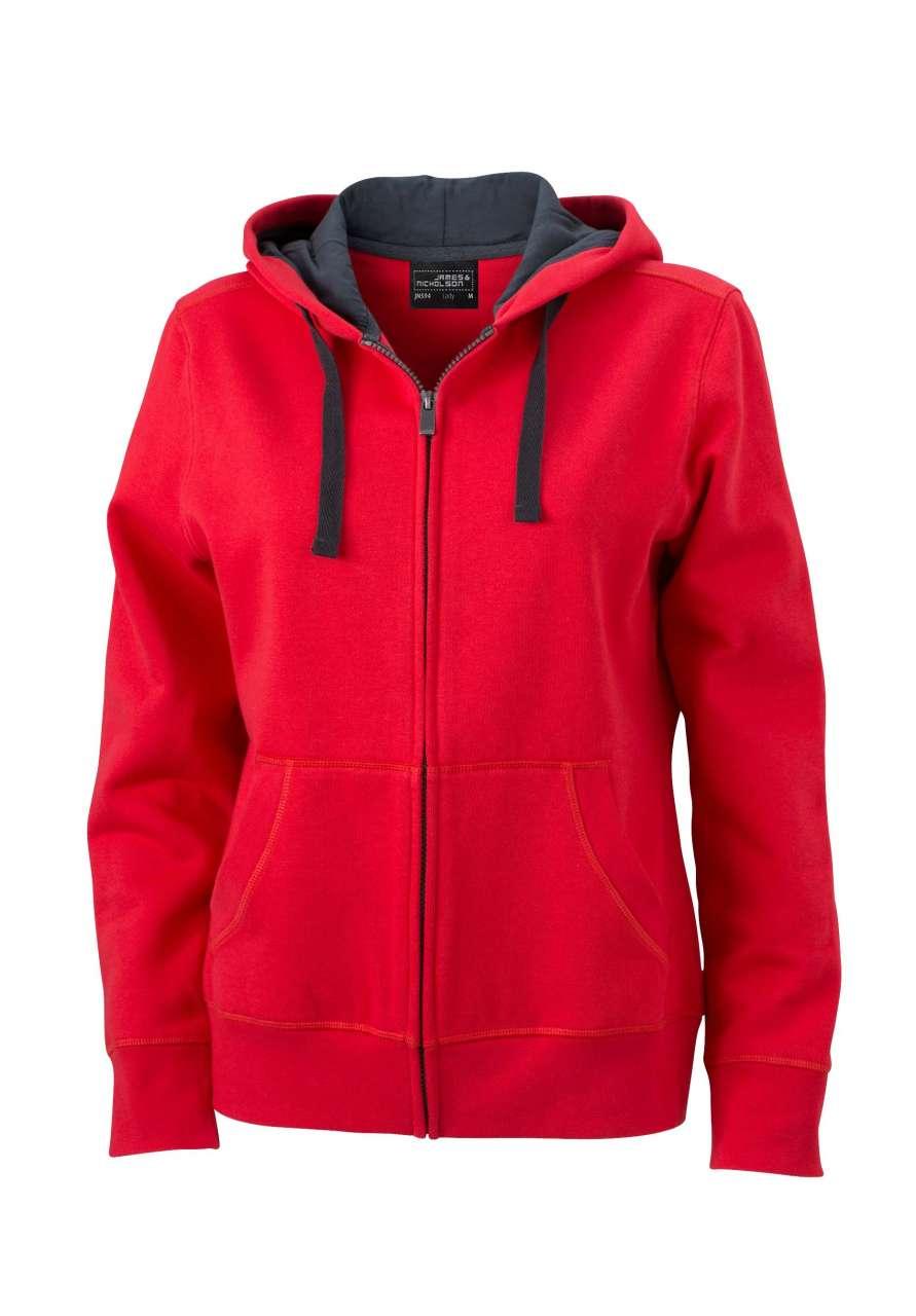 James /& Nicholson Damen Ladies Club Sweat Jacket Sweatjacke