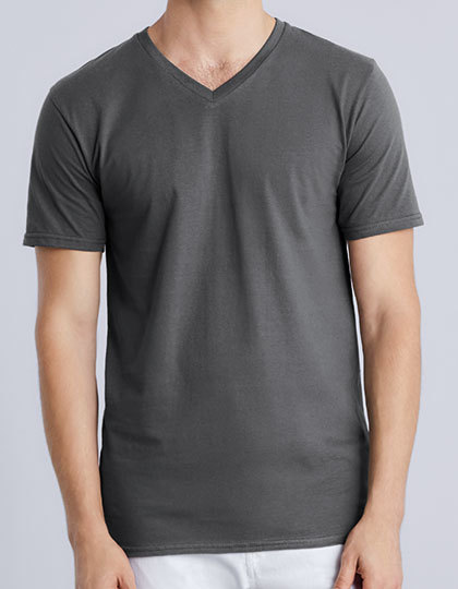 Premium Cotton® V-Neck T-Shirt | Gildan