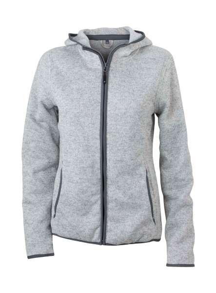 Ladies´ Knitted Fleece Hoody | James & Nicholson