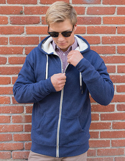 Unisex Sherpa Lined Zip Hooded Jacket | Independent