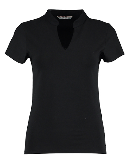 Corporate Top V Neck Mandarin Collar | Kustom Kit