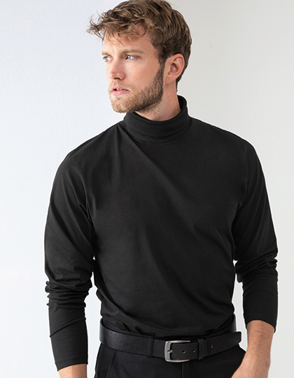 Roll-Neck Long-Sleeve T-Shirt   Henbury