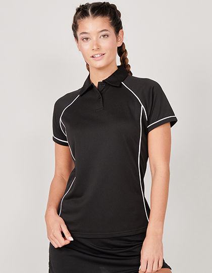 Ladies Piped Performance Polo | Finden+Hales