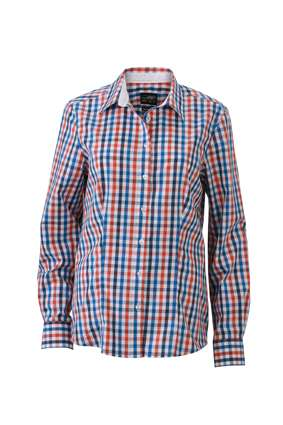 Ladies` Checked Blouse | James & Nicholson