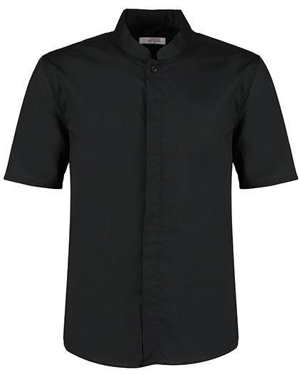 Mens Bar Shirt Mandarin Collar Short Sleeve | Bargear