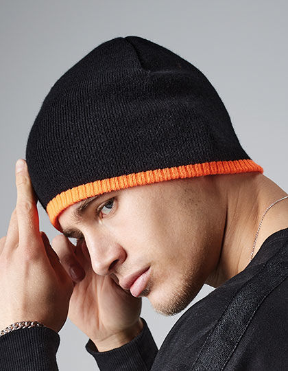 Two-Tone Pull-On Beanie | Beechfield