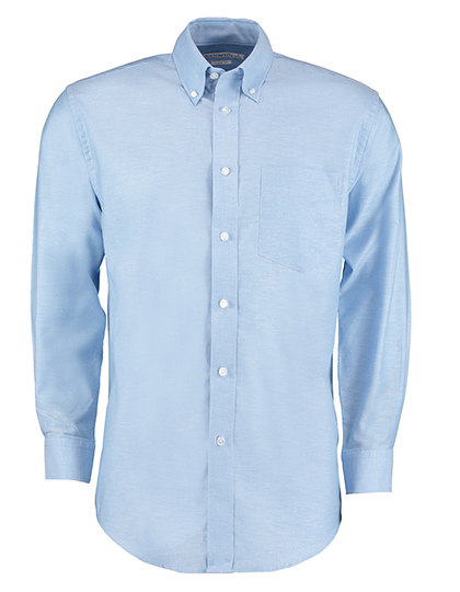 Mens Workwear Oxford Shirt Long Sleeve | Kustom Kit