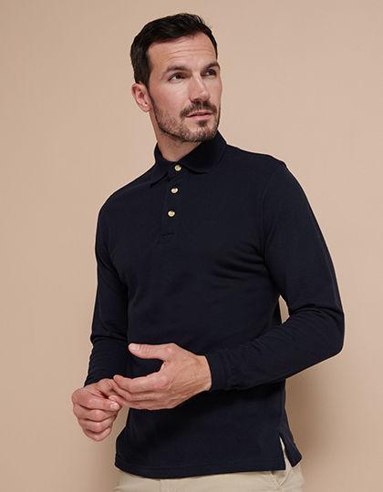 Long Sleeved Cotton Piqué Polo Shirt | Henbury