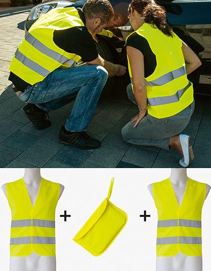 Car Safety Vest Double Pack EN ISO 20471   Korntex