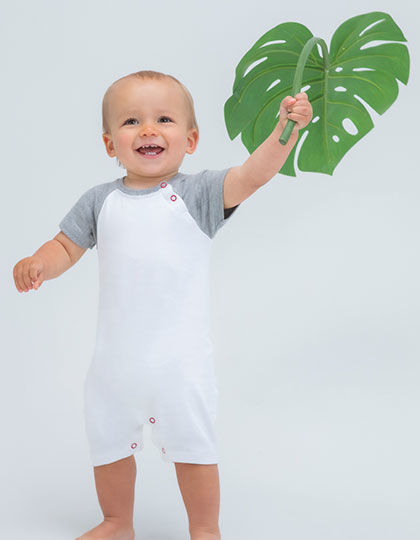 Baby Baseball Playsuit | Babybugz