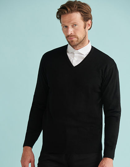 Men`s Lightweight V-Neck Jumper | Henbury