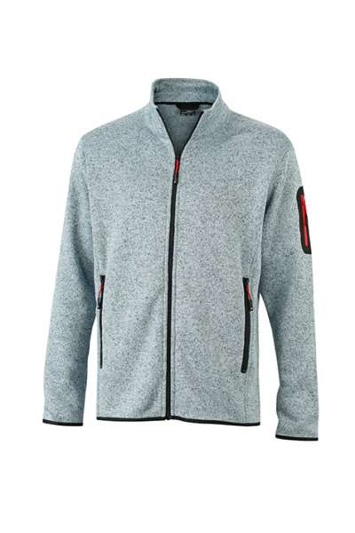 Men`s Knitted Fleece Jacket | James & Nicholson