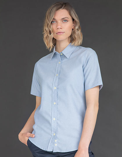 Ladies Classic Short Sleeved Oxford Shirt   Henbury