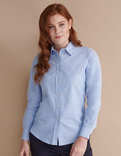 Ladies Classic Long Sleeved Oxford Shirt   Henbury