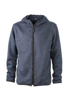 Men´s Knitted Fleece Hoody | James & Nicholson