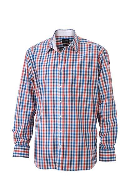 Men`s Checked Shirt | James & Nicholson