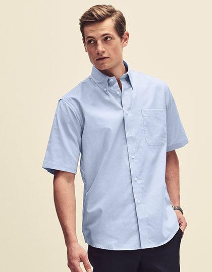 Men´s Short Sleeve Oxford Shirt | Fruit of the Loom