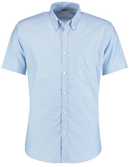 Slim Fit Workwear Oxford Shirt Short Sleeve   Kustom Kit