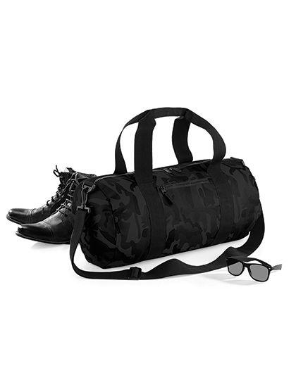 Camo Barrel Bag | BagBase